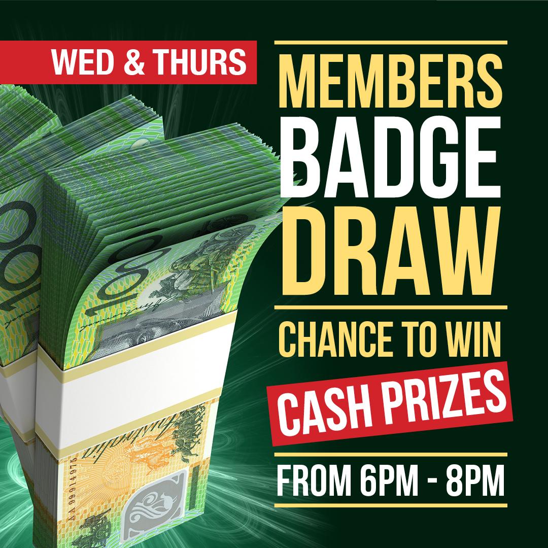 Wednesday - Badge Draw